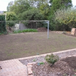 Calary Gardens: new lawn shape