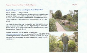 Calary Gardens in Skilled Migrant News