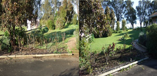Before and After outside Mt Gambier