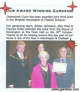 calary gardens kensington award