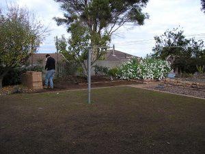 New flower beds Calary Gardens